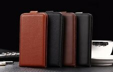 Cover book flip faux leather cover vertical for Philips Xenium X588