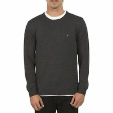Volcom Uperstand Crew Homme Pull Sweater - Black Toutes Tailles