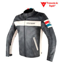 Dainese - Giacca in pelle HD D1 nera, bianca.. Uomo
