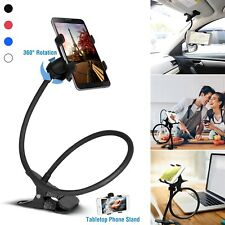 Flexible 360 Clip Mobile Cell Phone Holder Lazy Bed Desktop Bracket Mount Stand^