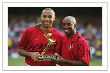 THIERRY HENRY & IAN WRIGHT ARSENAL AUTOGRAPH SIGNED 6x4 PHOTO PRINT SOCCER