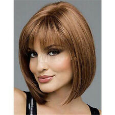 Charming Bob Wig Women Short Straight Synthetic Blonde Hair Cosplay Full Wigs