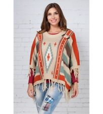 Peace and Love - Poncho Flint beige.. Donna