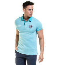 Backlight - Turquoise Chandler Polo Uomo Casual Cotone Manica corta