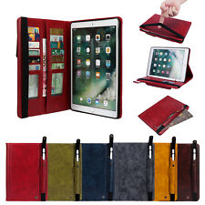 """Smart Leather Case Wallet Card Stand Cover For iPad PRO 9.7 Air/Mini/10.5/12.9"""""""