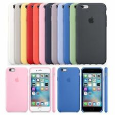 Funda para Apple iPhone 8 7 6s 6 Plus Original carcasas de Silicona Duro Genuina