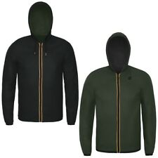 K-WAY UOMO KWAY JACQUES KL AIR DOUBLE giacca reverse PELLE NYLON CITY URBAN 947d