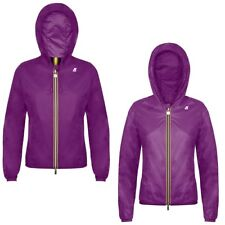 K-WAY KWAY LILY CRINKLE DOUBLE LASERED giacca reverse CORTA DONNA VENTO X43cleto
