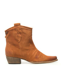 Mustang - Stivali in pelle zucca country - Tacco a spillo: 4,5 cm.. Donna