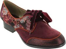 Ruby Shoo Micah Womens Red Bordeaux Ricami Floreali Robuste Stile Tacchi Bassi