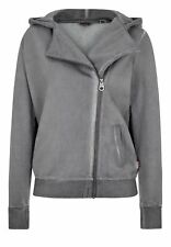 Lonsdale Mujer Zip Hoody Roos Gris Capucha Sport Fit Xs S M L XL XXL Nuevo