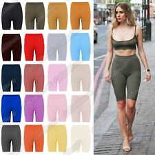 New Ladies Ribbed Stretchy Activewear Dance Gym Yoga Cycling Shorts Tight Pants
