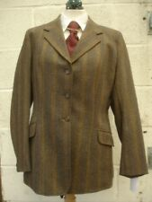 "Ladies Brown & Green Show Hacking Tweed Jackets Hunt 36 38 40 42 41"" Riding"