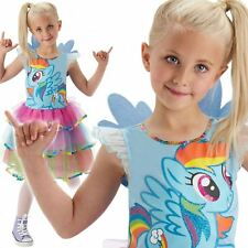 Deluxe Pinkie Pie Girls My Little Pony Fancy Dress Childs Kids Costume Outfit