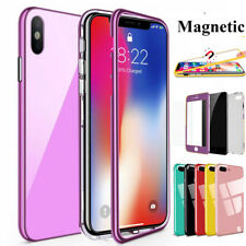 360° Magnetic Adsorption Case Per iPhone Xs MAX/Xr/X Custodia in Vetro Temperato