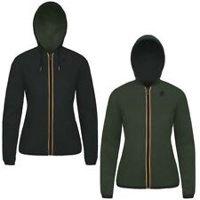 K-WAY PELLE LILY KL AIR DOUBLE Giacca DONNA reverse KWAY imperm. Nero Torba 947v