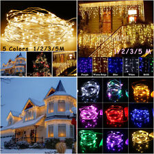 Christmas Battery Mini LED Copper Wire String Lights Party Xmas Decor 1/2/3/5M