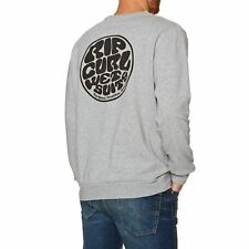 Rip Curl Wettie Crew Homme Pull Sweater - Cement Marle Toutes Tailles