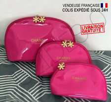Trousse toilette pochette maquillage make up Chanel Snowflake Vernis Rose neuve