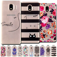 Clear Soft Back Rubber Case Cover Cute Pattern TPU Protective Skin For Samsung
