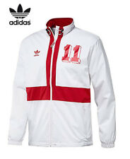 Adidas Originals White Red England Football Windbreaker Jacket Track Top S-XL