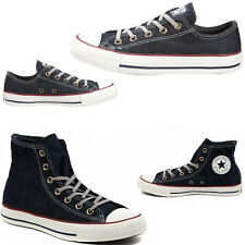 496f208ffcd9 SHOES CONVERSE DENIM JEANS HIGH ALL STAR CHUCK TAYLOR SNEAKERS MAN WOMAN LOW