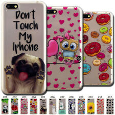Cute Painted Back Soft TPU Case Cover Clear Skin For Samsung Galaxy Huawei Honor