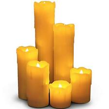 Just Essentials LED Pillar Dripping Effect Smoke Free Candles