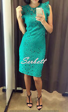 NEW ZARA WOMAN GREEN EMBROIDERED GUIPURE TUBE MIDI DRESS WITH LACE Ref 2703/614