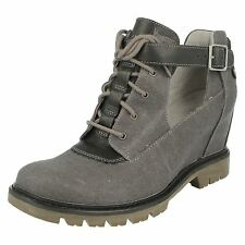 Mujer Caterpillar Gris Corte Botines Ancho/Grande Ancho Helena