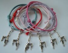 GYMNAST PARTY BAG FILLERS GOOD LUCK GIFTS BRACELETS COMPETITION GIFT 6 or 12