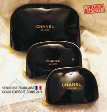 Trousse toilette pochette maquillage make up Chanel Snowflake Vernis Noir neuve