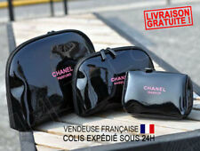 Trousse pochette Toilette Chanel Maquillage Make Up Parfums Vernis Noir neuf