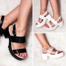 5a2be8f244c SPYLOVEBUY AXE PLATFORM CLEATED SOLE BLOCK HEEL SANDALS SHOES
