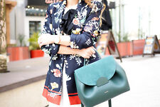 NEW ZARA NAVY FLORAL FLOWING DOUBLE BREASTED PRINTED BLAZER JACKET COAT 2872/185