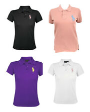 Ralph Lauren Womens The Skinny Polo Shirt Short Sleeve Big Pony Cotton