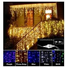 Christmas Garland LED Curtain Icicle String Light 220V 4.5m 100Leds Indoor Drop