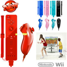 Remote and Nunchuck Controller With Silicone Case For Nintendo WII Home Game Pad