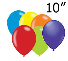 """10"""" Assorted Rainbow 6 Color Mix Latex Balloon Helium/Air Fill Event Celebration"""