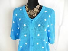 Turquoise Shirt Cotton Mesh Top Sweater Christopher Banks sizes S M L XL