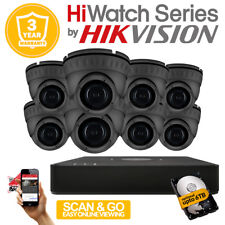 HikVision HiWatch CCTV HD DVR & 2.4MP 1080P Fix lens Camera Home Security kit