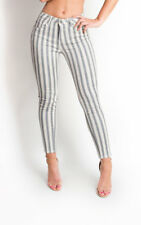 IKRUSH Womens Miley Striped Mid Rise Skinny Jeans