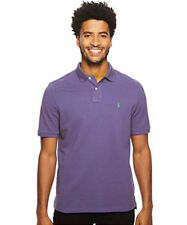 Ralph Lauren Mens Short Sleeve Polo Top Shirt Classic Fit - Pale Purple/Green