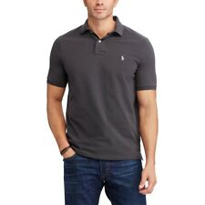 Ralph Lauren Mens Short Sleeve Polo Top Shirt Classic Fit - Grey / Pearl