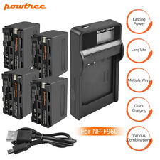 NEW 8700mAh NP-F960 NP-F970 Battery or Charger for Sony NP-F330 NP-F550 TP