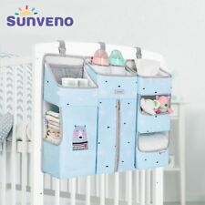 Portable Crib Organizer Bed Hanging Bag for Baby Diapers Storage 3pcs Set