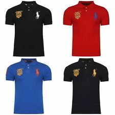 Ralph Lauren Mens Masterclass Polo Shirt Short Sleeves Cotton Custom Fit