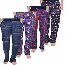 Ladies Pyjamas Lounge Pants Fleece Bottoms Christmas Mens Nightwear Unisex Lot