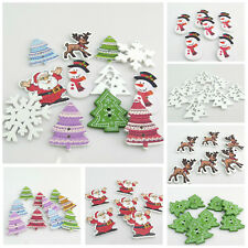HOT SELL VARIOUS STYLE CHRISTMAS WOODEN CHIPS & WOODEN BUTTONS FOR HANDICRAFTS