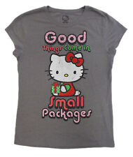 Hello Kitty SANRIO- T-SHIRT (XL)-GOOD THINGS COME IN SMALL PACKAGES! -NEW